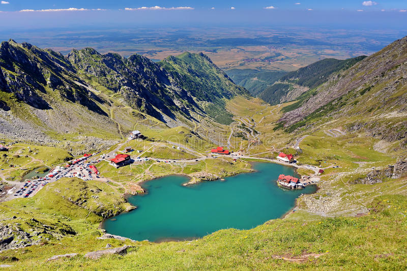 Fagaras Mountains, Romania. Fagaras Carpathians Mountains with Balea Lake in Romania stock images
