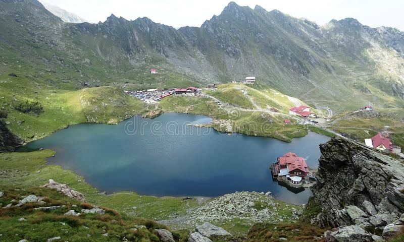 Balea Lake, Romania stock photography