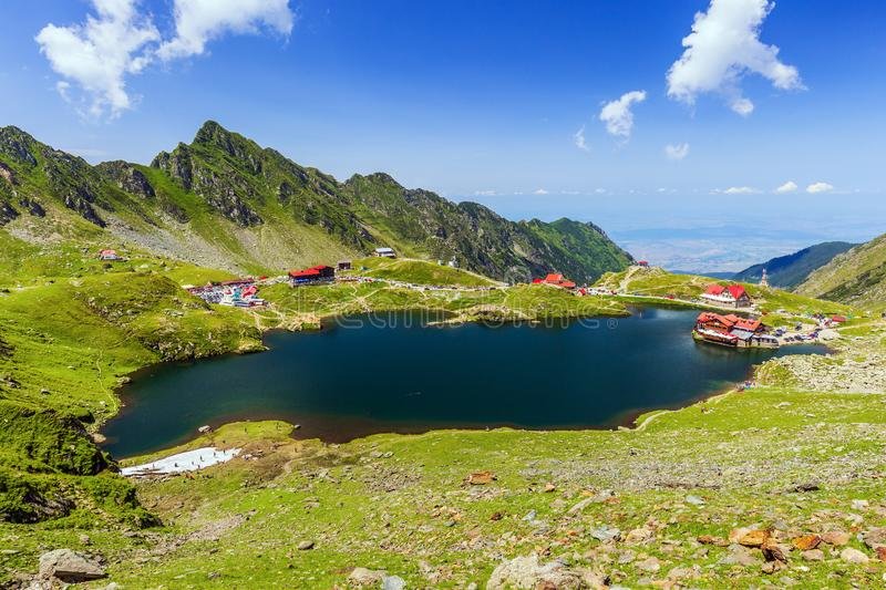Balea lake, Romania. stock image