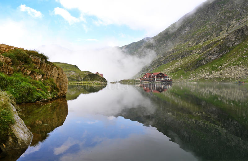 Balea Lake - Transfagarasan. Landscape (Carpathian Mountains stock photos