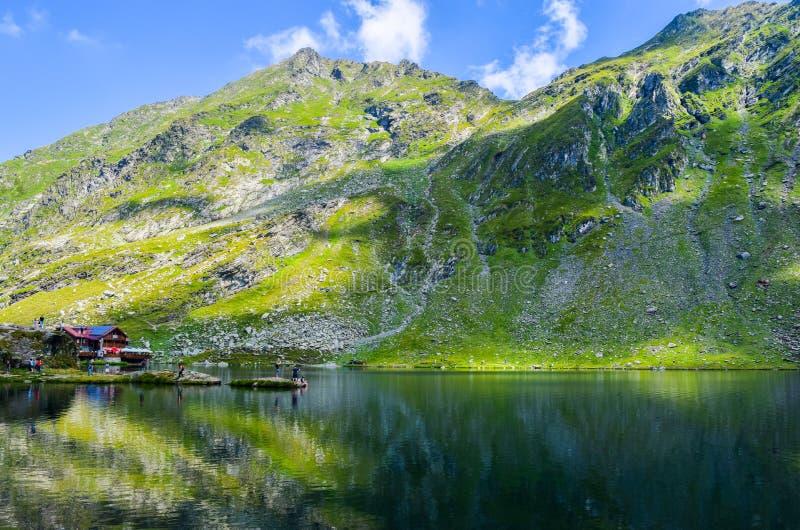 Balea Lodowiec jezioro, Rumunia fotografia royalty free