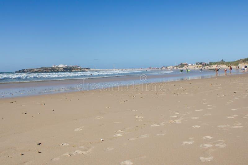 Baleal Long Beach In Low Tide And Baleal Village Peniche - Portugal map baleal