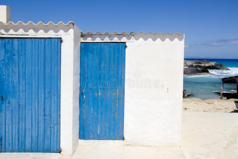 balearic formentera för arkitektur white royaltyfri bild