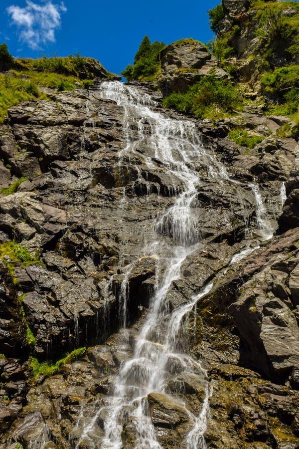 Baleawaterval, Transfagaras-weg royalty-vrije stock afbeelding