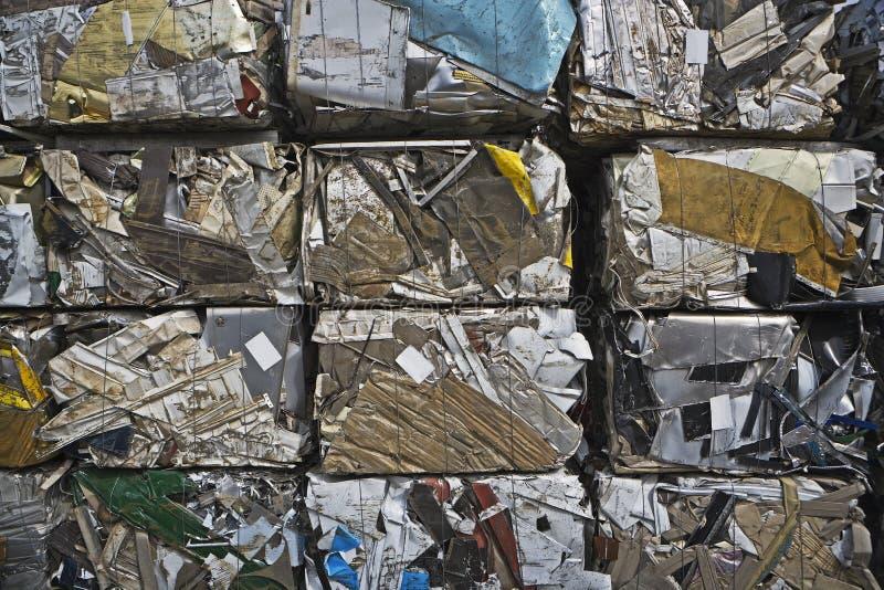 Baled Scrap Metal stock image
