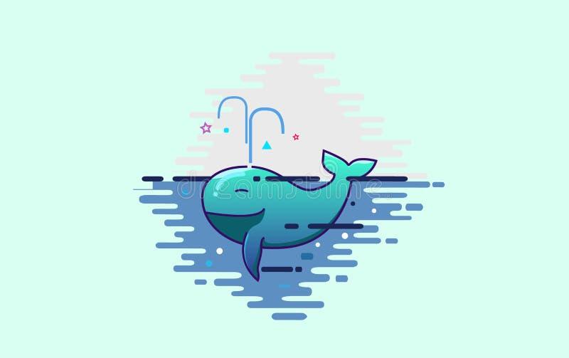 Baleia bonito ilustração royalty free