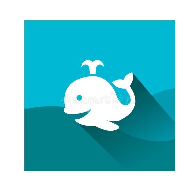 Baleia bonito em um mergulho ilustração stock