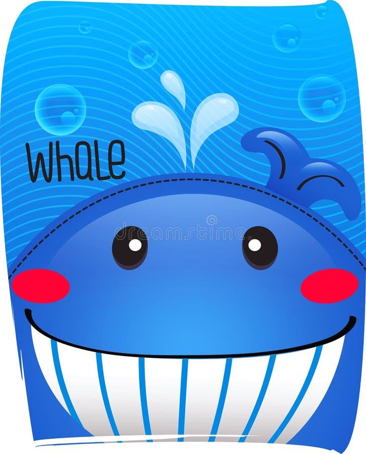 Baleia bonito no fundo do oceano foto de stock