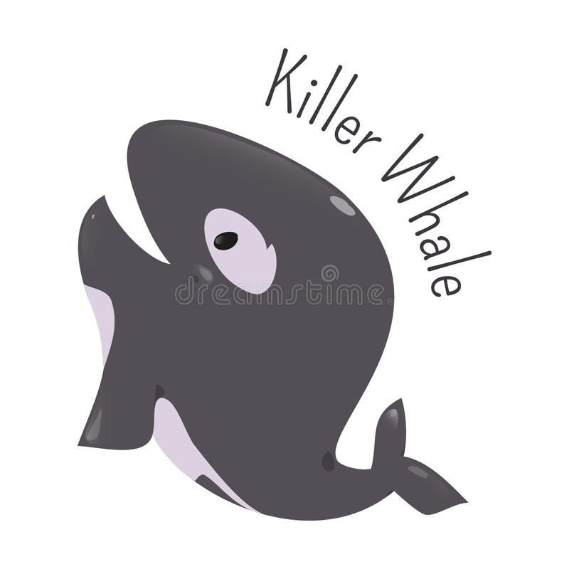 Baleia de assassino Ícone do divertimento da criança ilustração stock