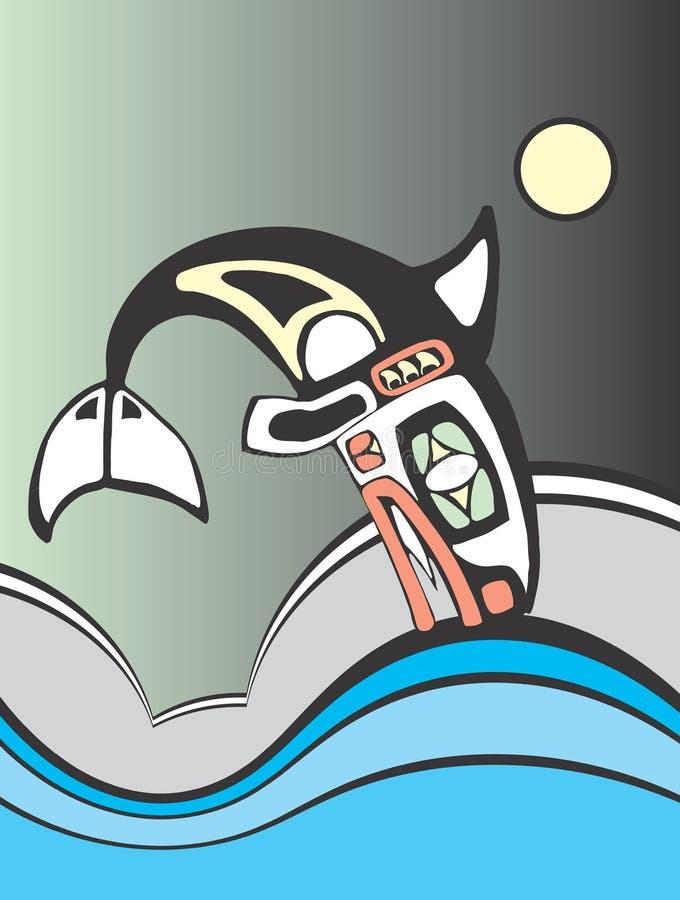 Baleia de assassino do mergulho ilustração royalty free