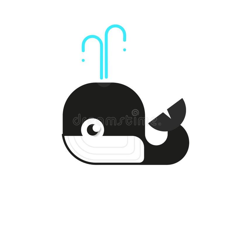 Baleia do Logotype, Logo Vetora For Logistic, entrega, liberdade, consultando, vetor ilustração stock