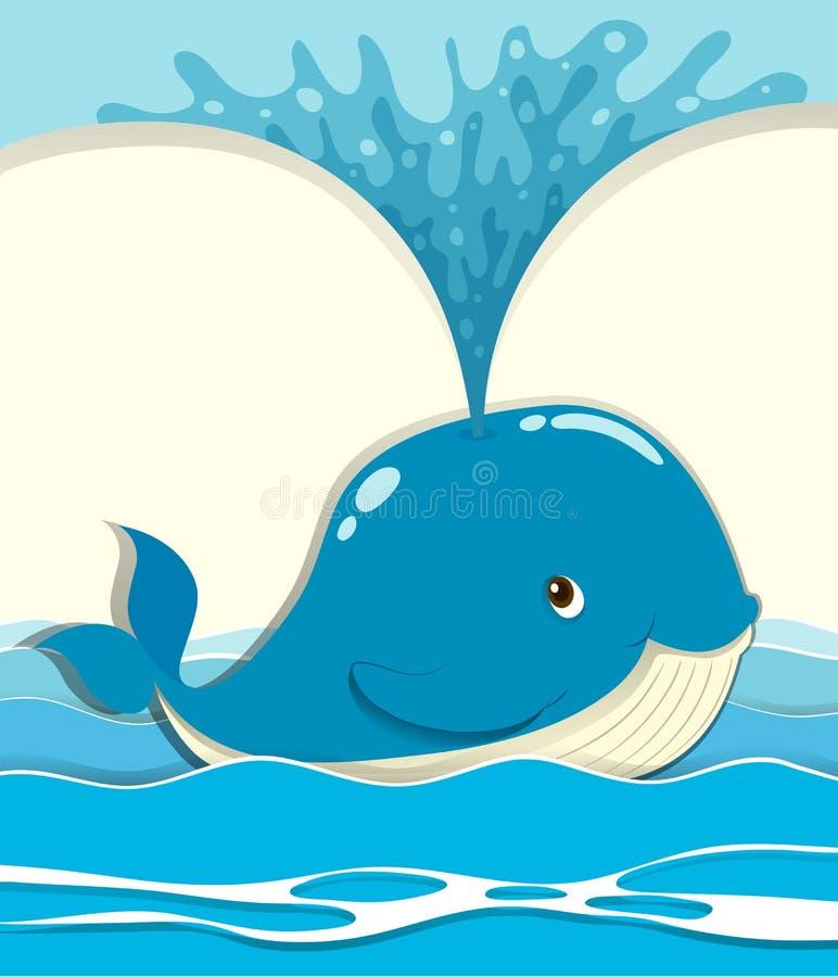 Baleine éclaboussant l'eau  illustration libre de droits
