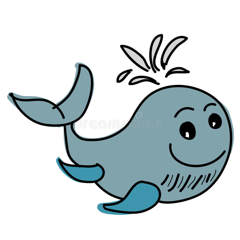 Baleine bleue illustration de vecteur