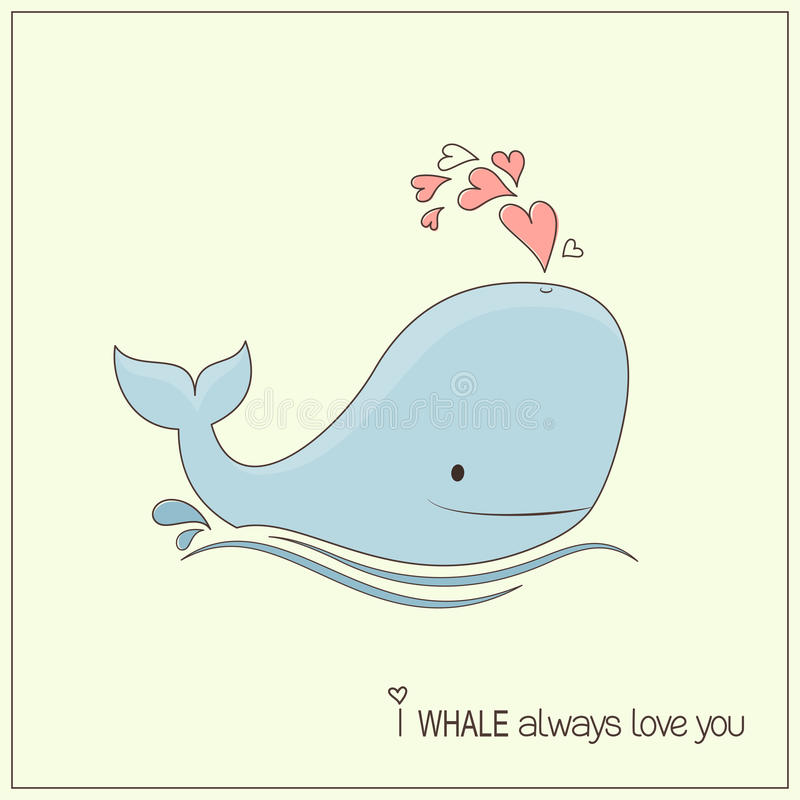 baleine d'amour illustration libre de droits