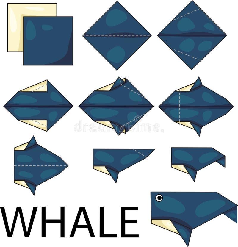 Baleine d'origami illustration libre de droits