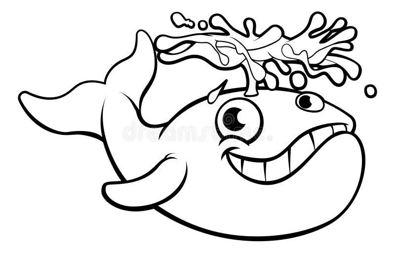 Baleine de bande dessinée illustration de vecteur
