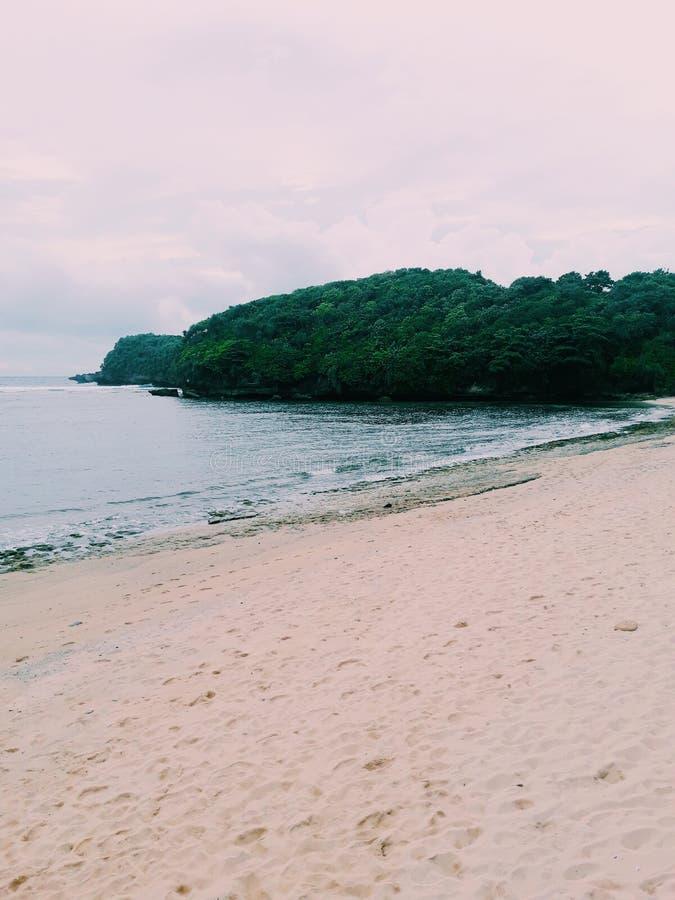 Balekambang Beach royalty free stock image