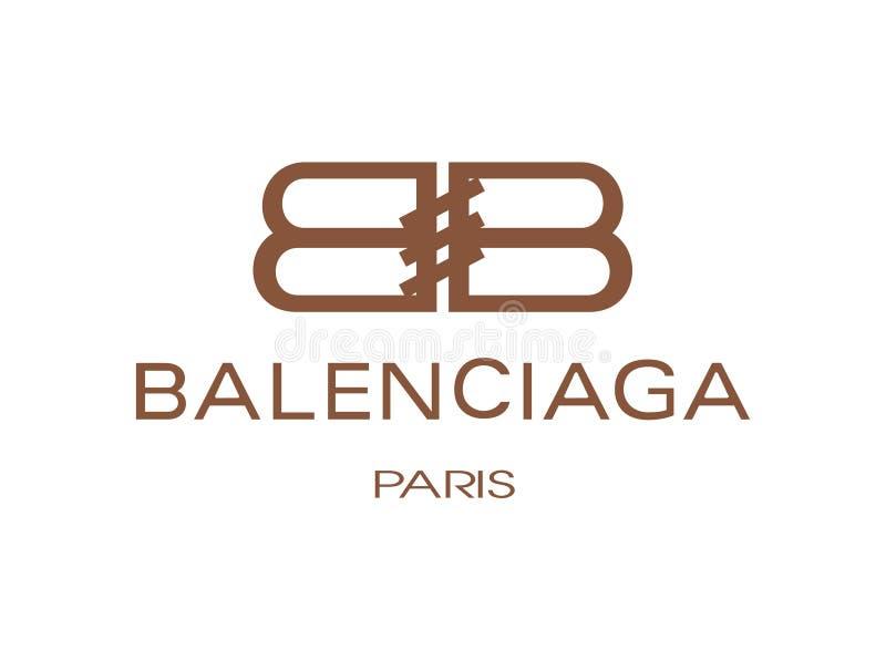 Balenciaga Logo Vector Illustration royaltyfri illustrationer