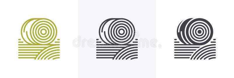 Baler av hösymbolen vektor illustrationer