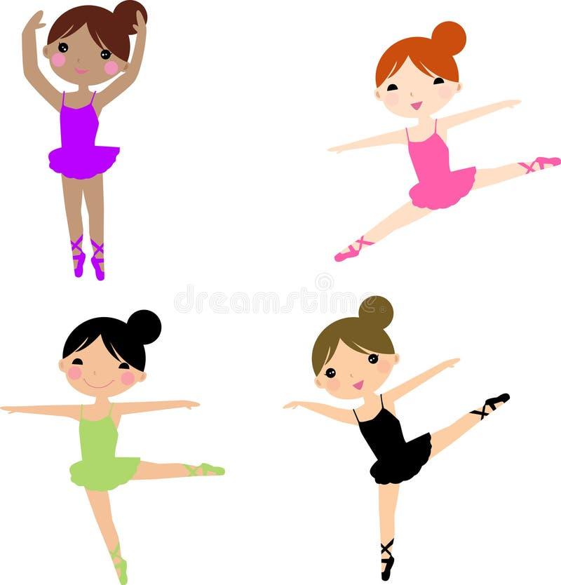 Balerin dancingowe serie ilustracja wektor