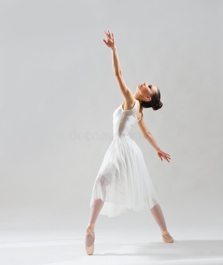 Balerina na popielatej wersi obrazy royalty free