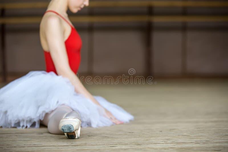 Balerina na spódniczce baletnicy zdjęcia stock