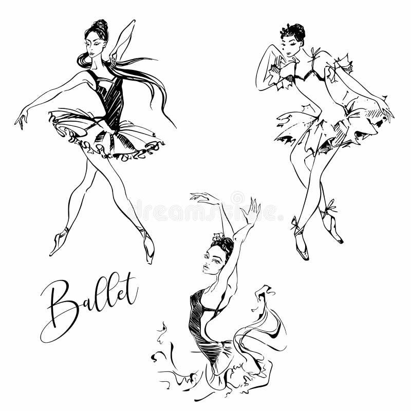 Balerina tancerzem balet carmen grafit r?wnie? zwr?ci? corel ilustracji wektora royalty ilustracja