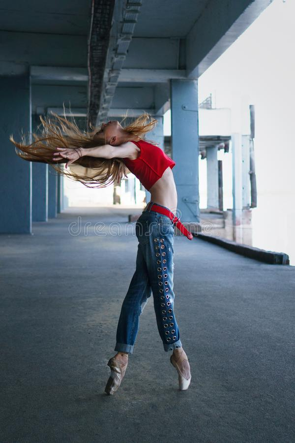 Balerina taniec Uliczny występ obraz royalty free