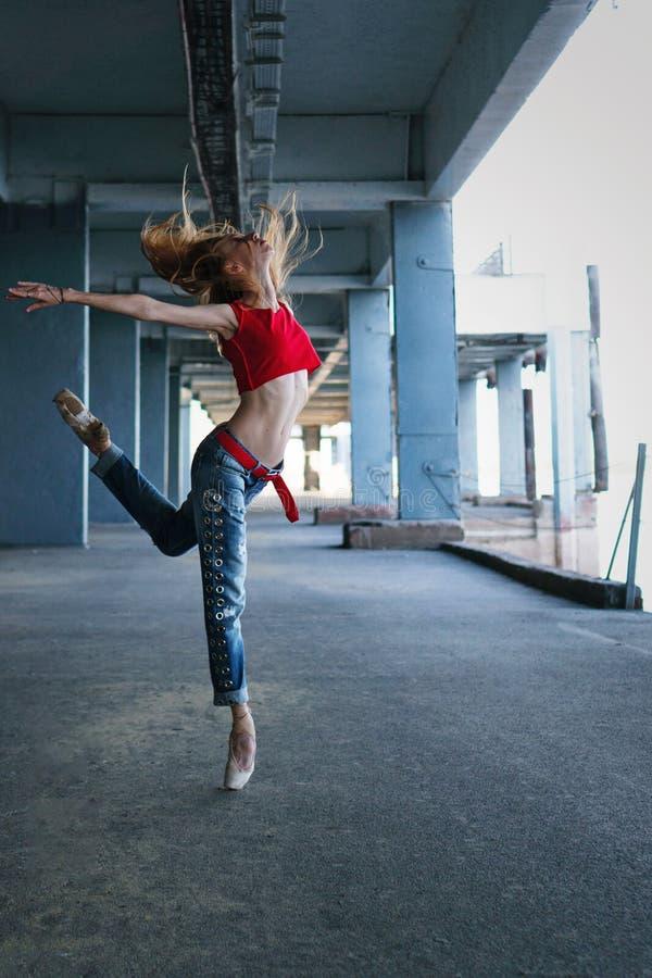 Balerina taniec Uliczny występ fotografia stock