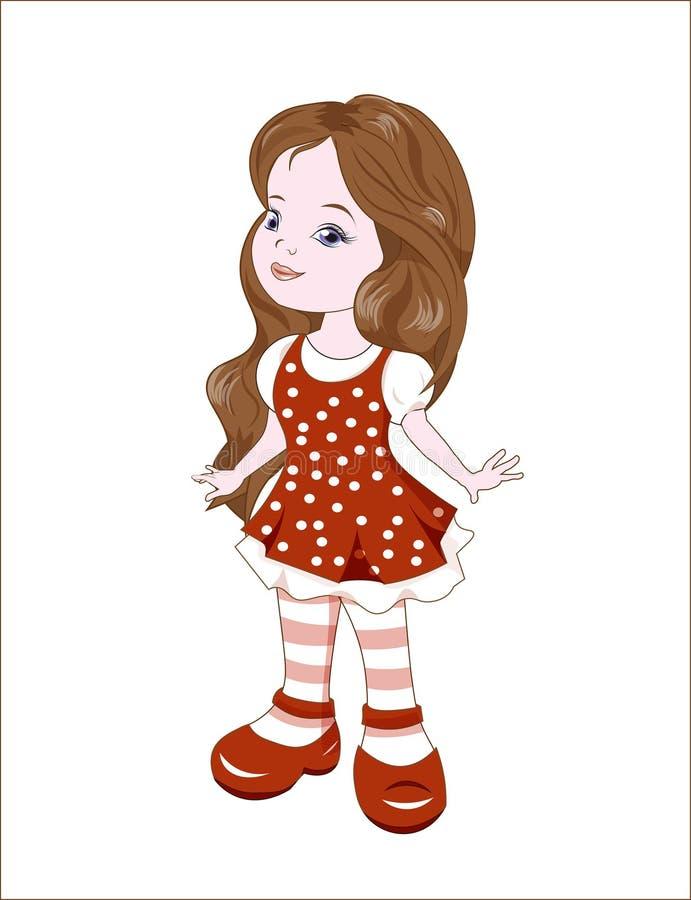 balerina trochę royalty ilustracja
