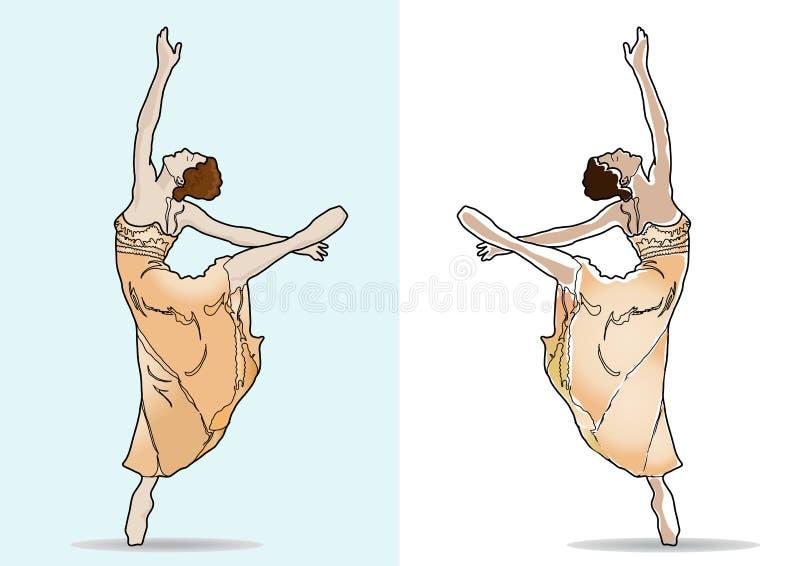 Balerina van het ballet dancer_ royalty-vrije illustratie