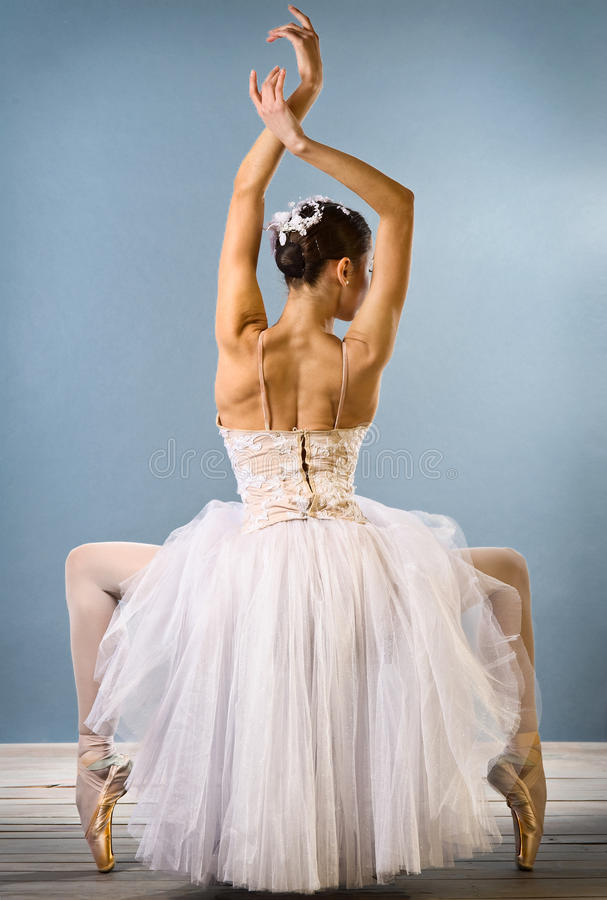 balerina widok pełen wdzięku tylni obrazy royalty free