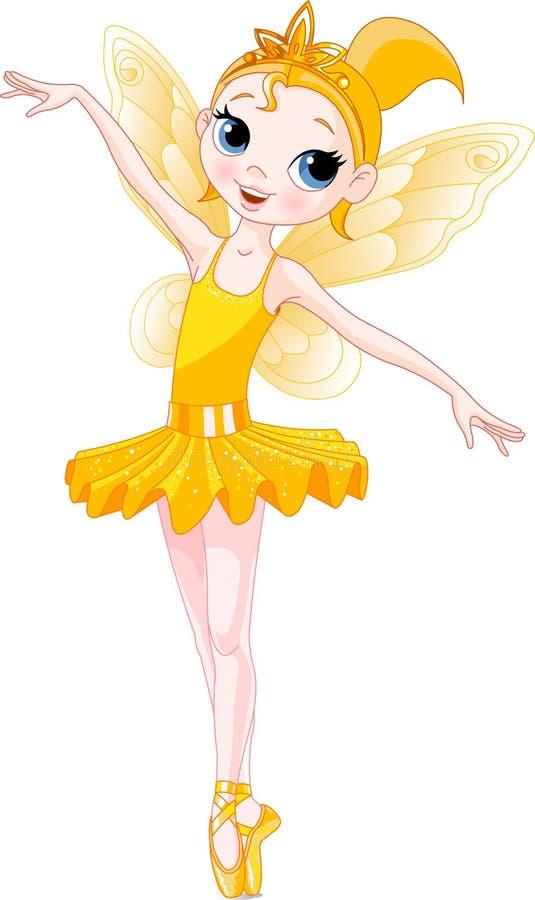 baleriny balerin tęczy serii kolor żółty royalty ilustracja