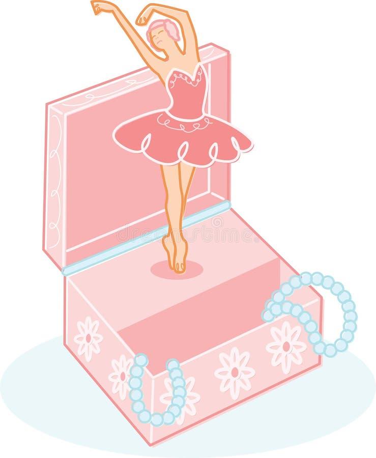 baleriny biżuteria pudełkowata śliczna ilustracyjna ilustracji
