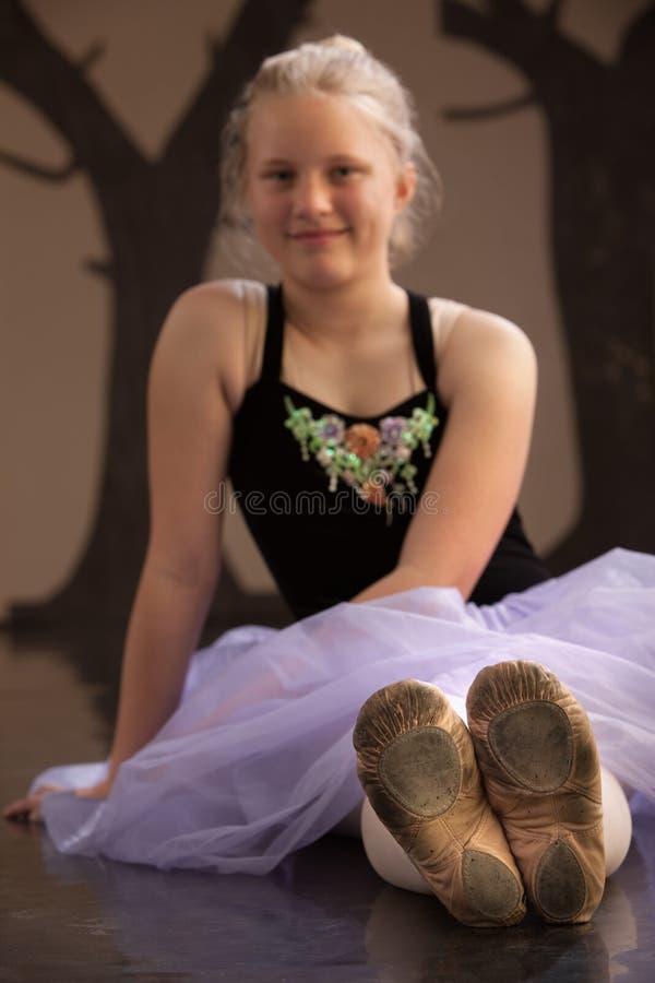 baleriny być ubranym buty być ubranym zdjęcie stock