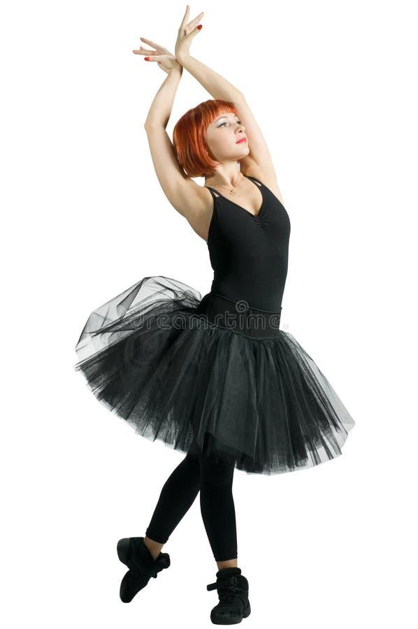 baleriny czarny czerwony spódniczki baletnicy target2418_0_ obraz royalty free