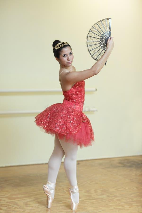 baleriny czerwień zdjęcie stock