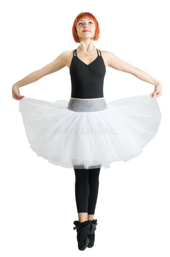 baleriny czerwony spódniczki baletnicy target521_0_ obrazy stock