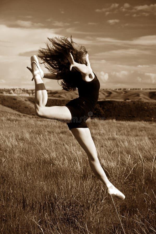 baleriny doskakiwanie fotografia stock