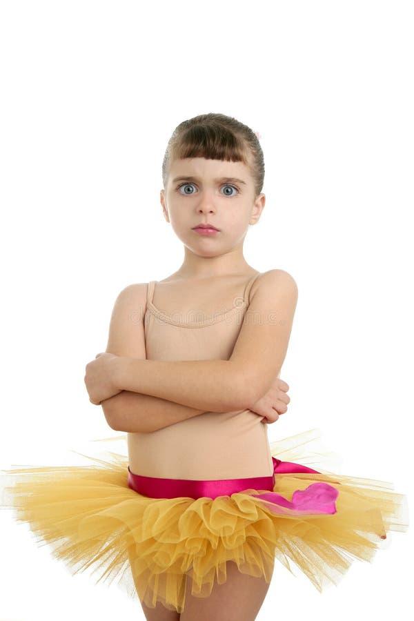 baleriny dziewczyny małego portreta target1708_0_ studio zdjęcie royalty free
