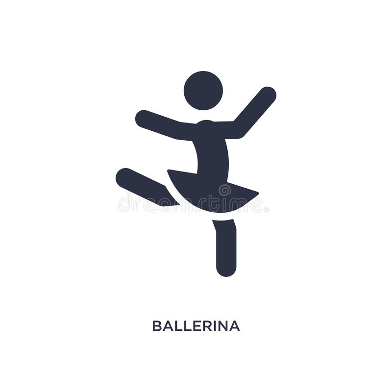 baleriny ikona na białym tle Prosta element ilustracja od aktywności i hobby pojęcia ilustracja wektor