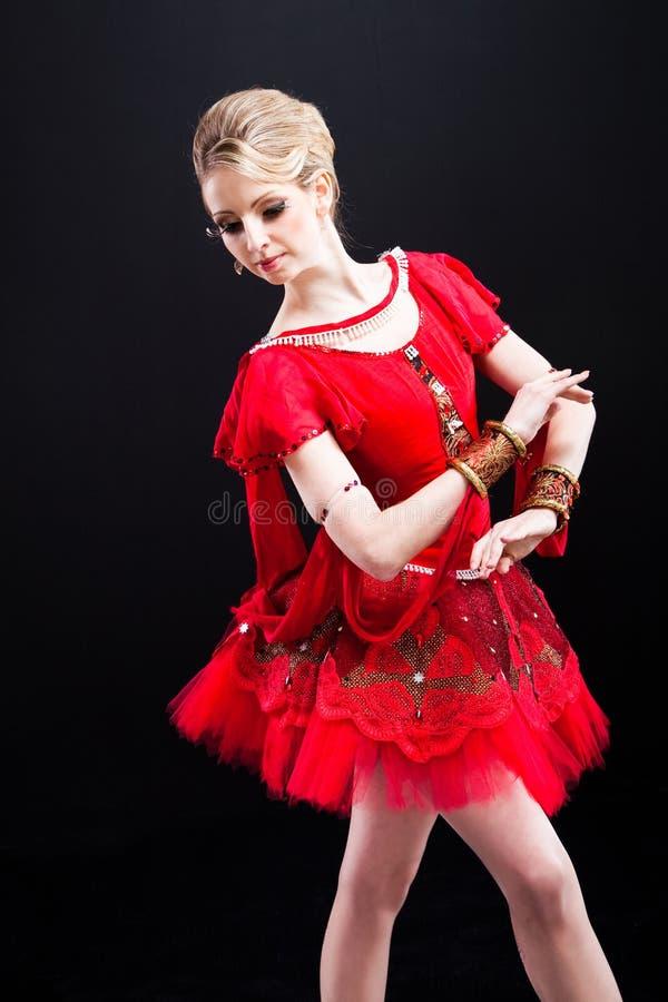 baleriny spódniczka baletnicy czarny target5095_0_ czerwona zdjęcie stock