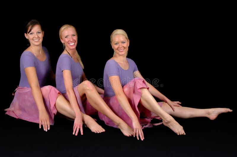 baleriny szczęśliwi 3 obraz stock