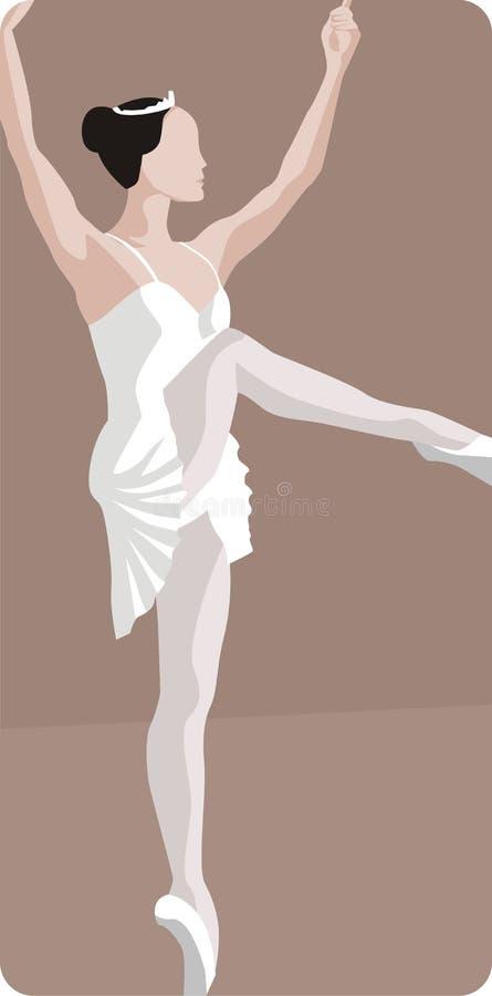 baleriny tańczącą ilustracja ilustracja wektor