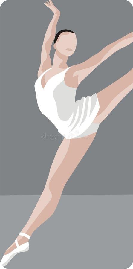 baleriny tańczącą ilustracja ilustracji