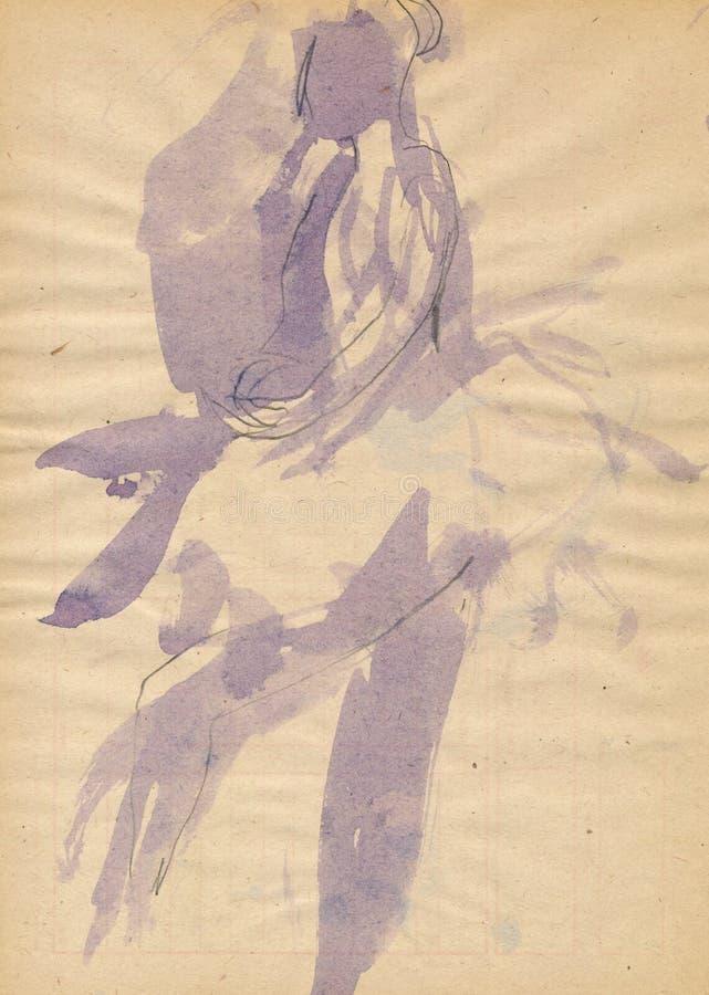 baleriny tancerza kobiety royalty ilustracja