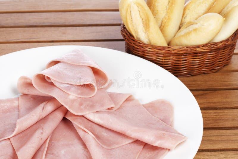 baleronów chlebowi plasterki fotografia stock