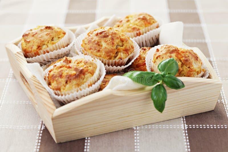baleronów serowi muffins obraz stock