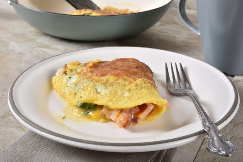 Baleronu i sera omlet obraz stock