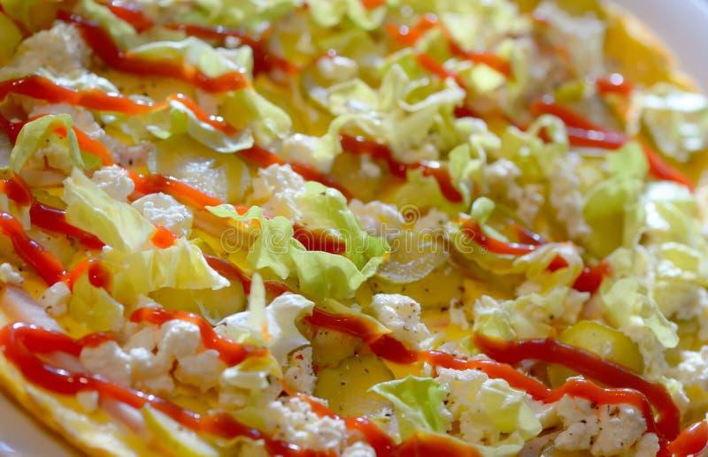 Baleronu i sera omlet obraz royalty free